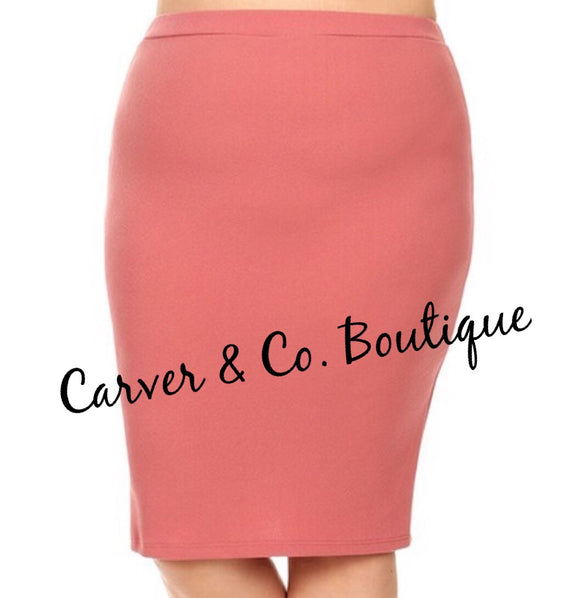 Perfect Pencil Skirt in Mauve