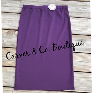 Perfect Pencil Skirt in Plum