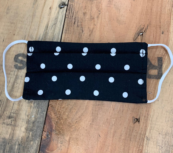 Black with Dots Kid Mask