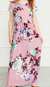 """Love you to the Moon and Back"" Little Misses Maxi Dress In Mauve"