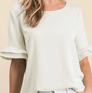 """Sweet Summer"" Top In Ivory"