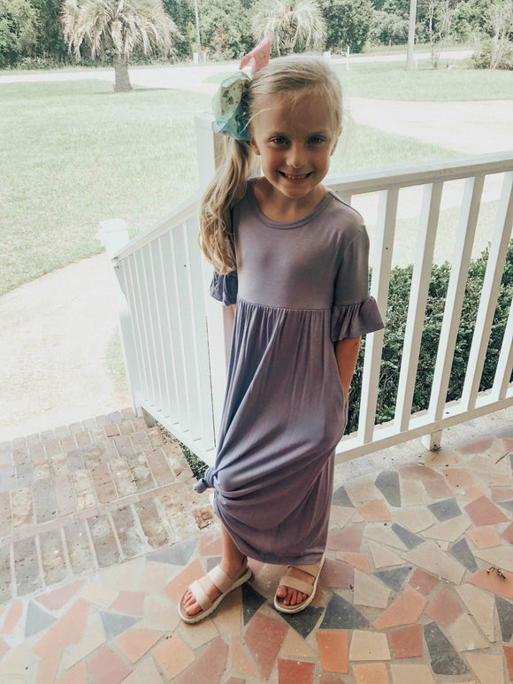 """Perfect Maxi"" Girls Dress In Lavender"