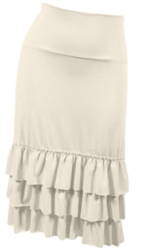 """Big Tiered Skirt Extender"" In Cream Plus"