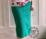 """Britt Nicole"" Green Denim Skirt"