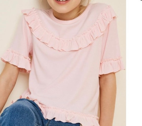 """Ruffle up"" Youth Top"