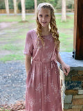 """Pretty in Pink"" Vintage Dress with Tie"