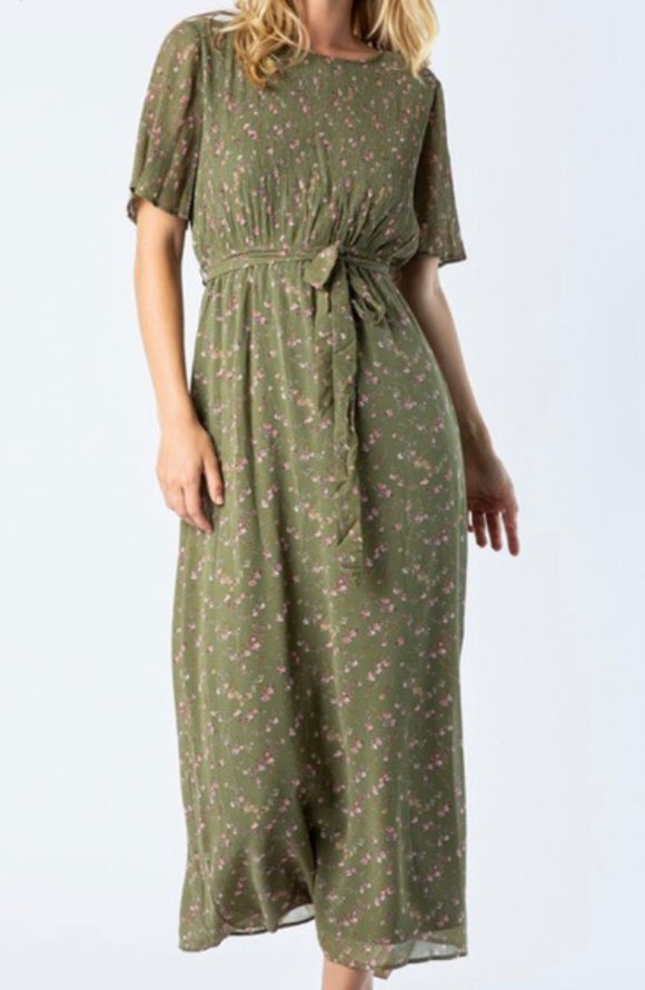"""Not Old Just A Classic"" Olive Maxi Dress"