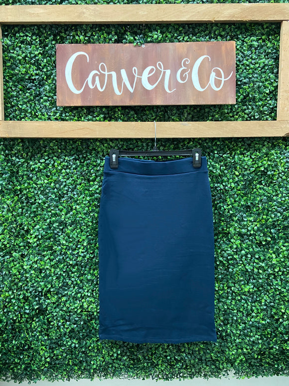 Little Misses Navy Blue Pencil Skirt