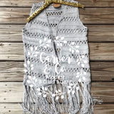 """You Make me Happy When Skies Are Gray"" Crochet Vest"