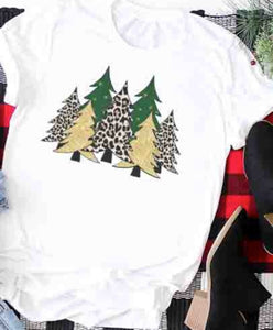 """Christmas in the Wild"" Ladies Tee in Ash Gray"
