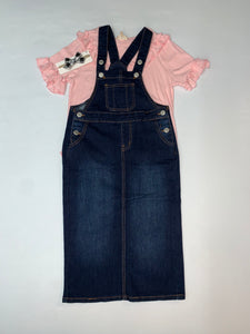 """Emma Claire"" Little Misses Denim Overall"