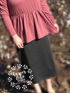Perfect Pencil Skirt in Charcoal Gray