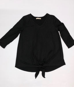Classic Knotted Top In Black