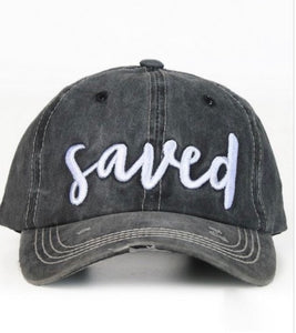 """Saved"" Cap In Charcoal"
