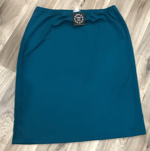 Perfectly Plus Pencil Skirt in Teal