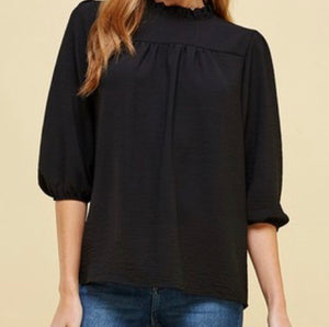 """Working 9 to 5"" Top in Black"