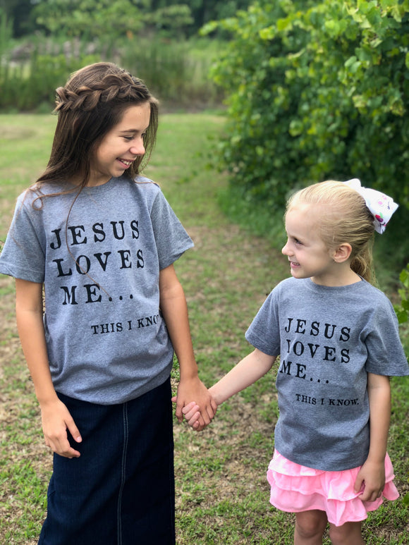 """Jesus Loves Me This I Know"" youth shirt"