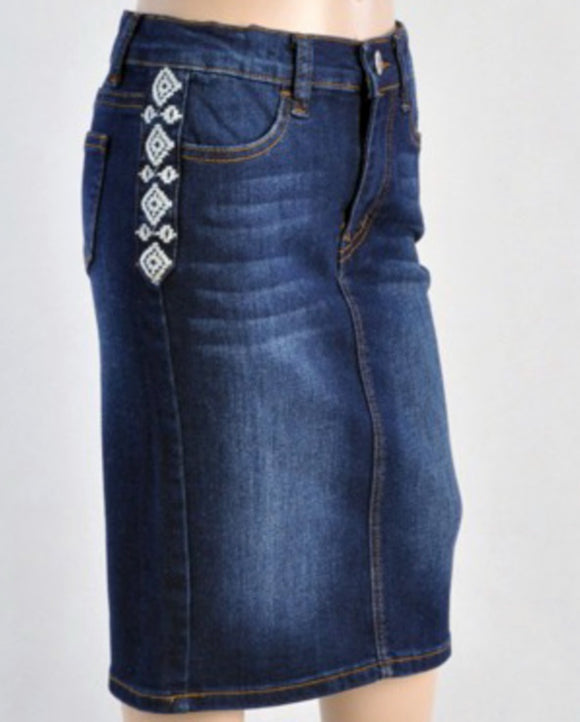 """Kathryn Hope"" Girls Denim Skirt"