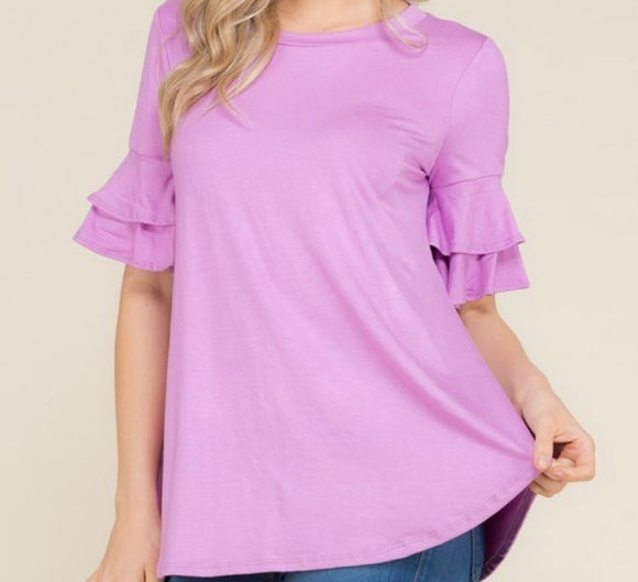 """Feeling Spring Vibes"" Top In Lavender"