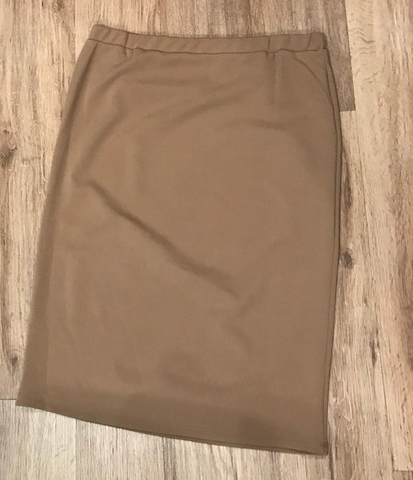Perfect Pencil Skirt in Khaki (Dressy/Polyester)