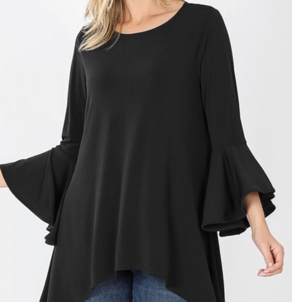 """Thankful and Grateful"" Top in Black"