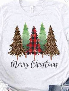 """Merry Christmas""  Tee in Ash Gray"