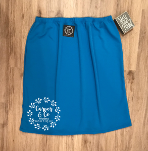 Perfectly Plus Pencil Skirt in Bright Blue