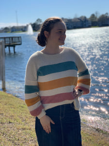 """Sweet as Candy"" Striped Sweater"