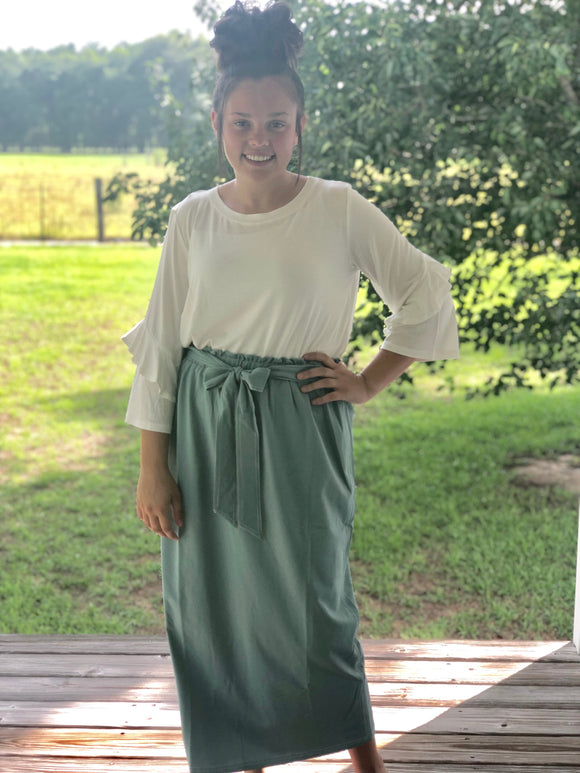 """Classy with a Touch of Sass"" Maxi Skirt"