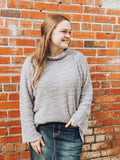 """My Fave"" Popcorn Sweater In Gray"
