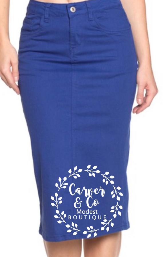 """Britt Nicole"" Blue Denim Skirt"