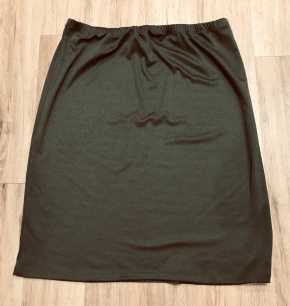 Perfectly Plus Pencil Skirt in Olive