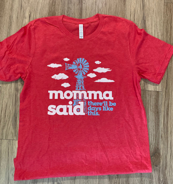 """Momma Said"" Tee In Red"