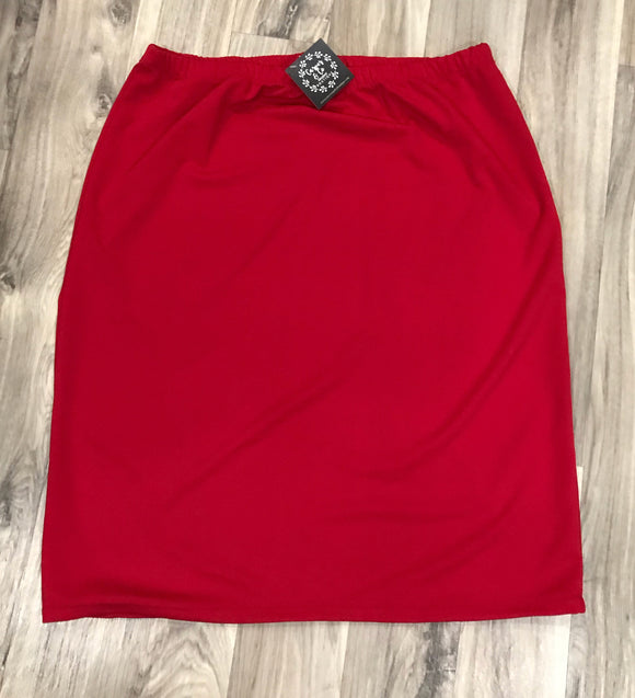 Perfectly Plus Pencil Skirt in Red
