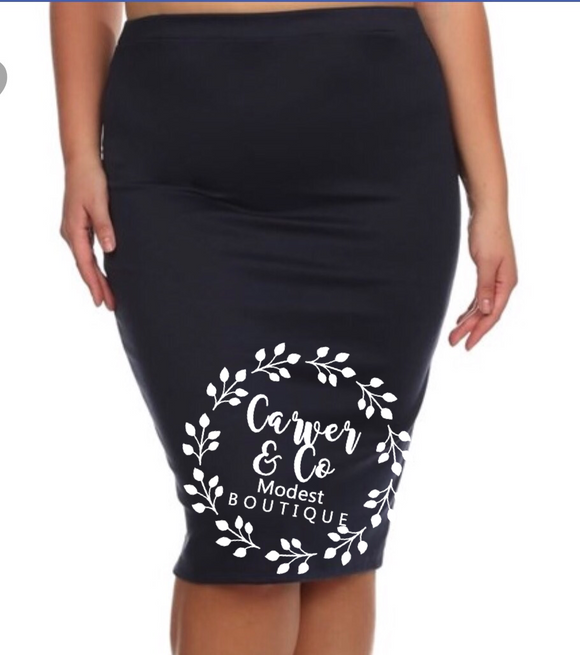 Perfect Pencil Skirt in navy
