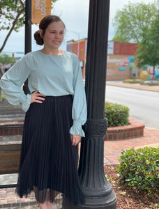 """Just a City Girl"" Tulle Skirt in Black"