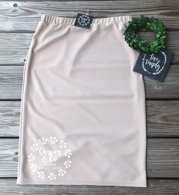 Perfect Pencil Skirt in cream (Juniors)