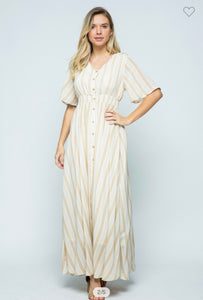 """Dreaming of Stripes"" maxi dress"