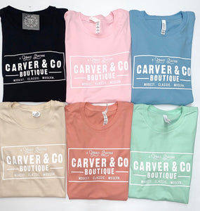 """Modest and Modern"" Carver and Co. Tee in Coral"