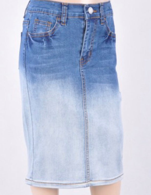 """Sarah Lee"" Girls Denim Skirt"