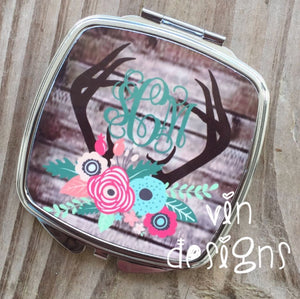 """Points and Petals"" Compact Mirror"