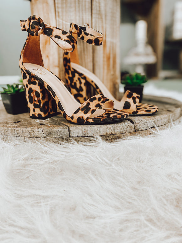 Block Heels in Leopard