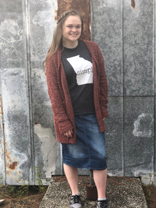 """Popping into Fall"" Popcorn Sweater Cardigan"