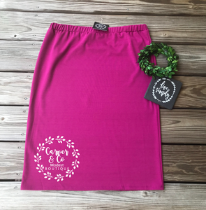 Perfect Pencil Skirt in Magenta