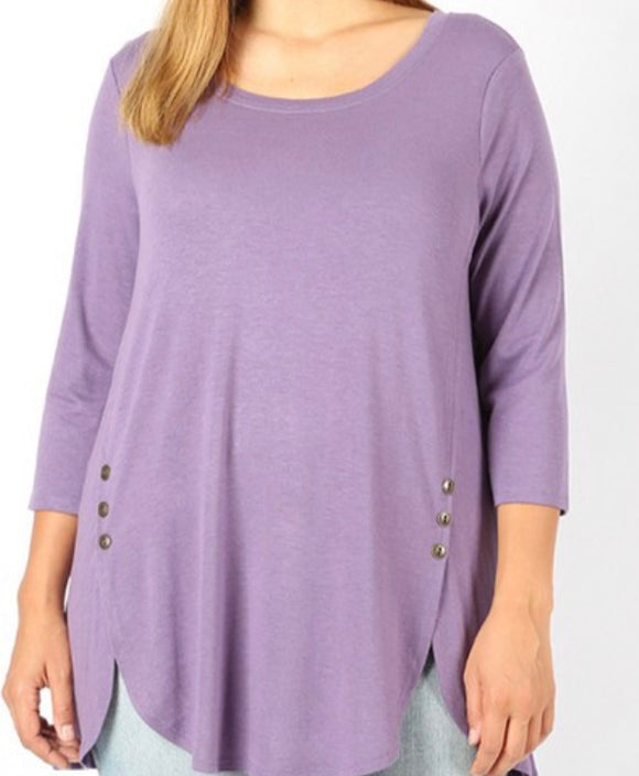 """Cute as a Button"" In Lilac"