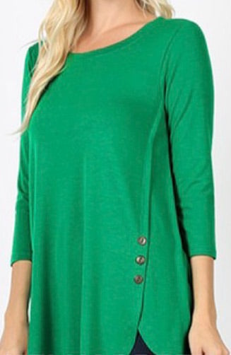 """Cute as a Button"" In Kelly Green"