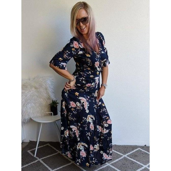 Burke st clothing dress 8 Tori Wrap maxi dress