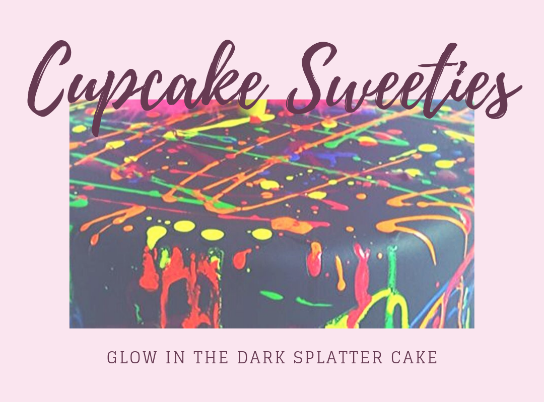 Glow in the Dark Splatter Cakes