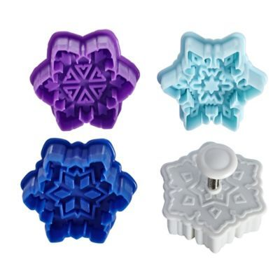 Plunger Cutters - Snowflake Cookie Cutters (set of 4)