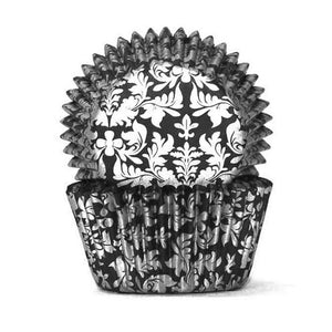 408 Cupcake Papers - High Tea Black/Silver (100 approx)